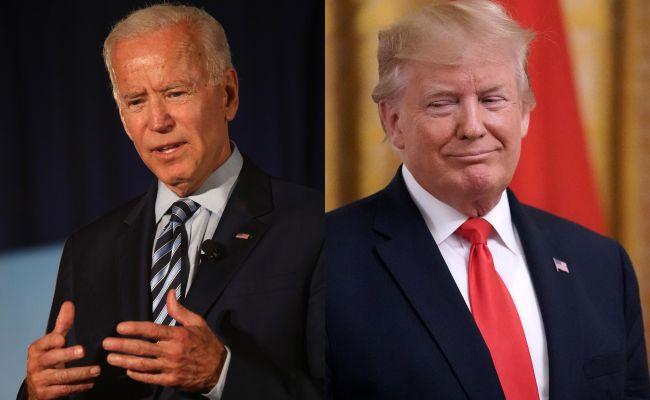 За две недели до выборов в США: Байден — 53% , Трамп — 42%