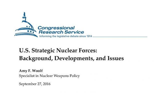 Стратегическое ядерное орудие США и планы по его модернизации: доклад