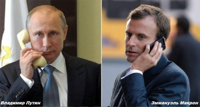 5778b979d58c34e0a5ca24150ed98 Президенты России иФранции обсудили внутриукраинский конфликт— Кремль
