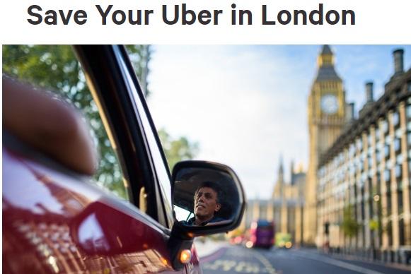 Петицию в защиту компании Uber за сутки подписали полмиллиона британцев