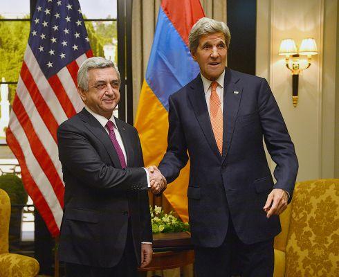Президент Армении Серж Саргсян и госсекретарь США Джон Керри