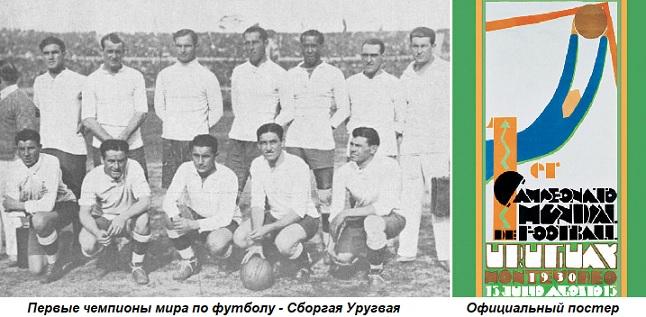 Картинки по запросу 1930 В Уругвае начался первый в истории Чемпионат мира по футболу