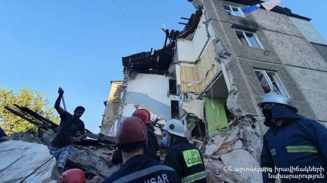 Взрыв из-за утечки газа разрушил здание вЕреване— есть пострадавшие