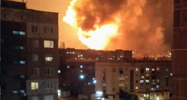 В украинском Кропивницком произошла серия взрывов, часть города обесточена